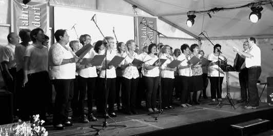 Der Chor zur 775-Jahr-Feier von Gersdorf