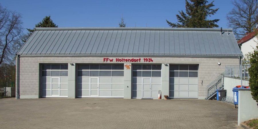 Das Feuerwehrhaus in Holtendorf