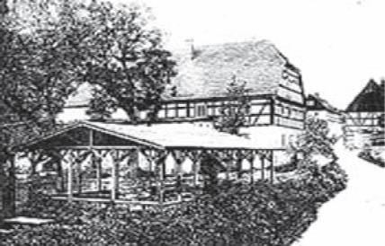 Gerichtskretscham mit Sommerkolonnade 1900