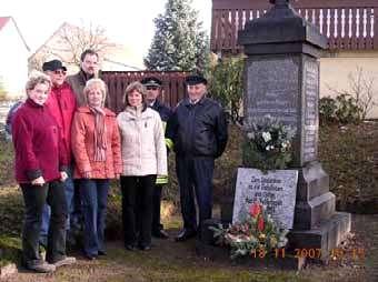 Gedenken in Pfaffendorf
