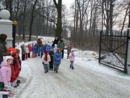 Kinder in Morawa (Polen) Januar 2008<br>Foto: Th. Knack