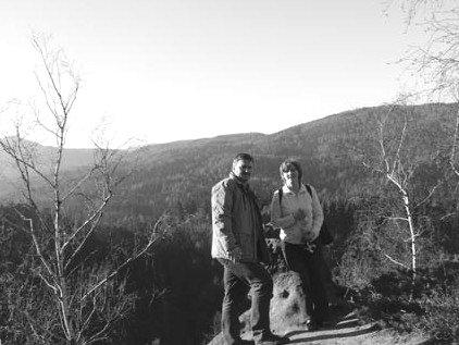 Birgit und Thomas Knack im Zittauer Gebirge