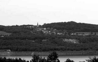 Blick vom Bagger über den See auf Jauernick-Buchbach, Foto: Knack