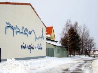 via regia - Turnhalle,<br>Ort des Neujahrsempfangs