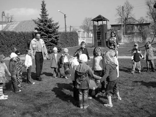 Markersdorfer Kinder in Muhrau.<br>Foto: Knack