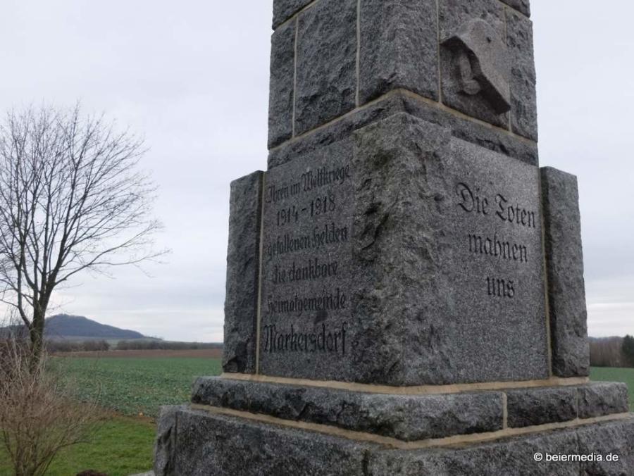 Abbildung: Markersdorfer Kriegerdenkmal des Ersten Weltkriegs