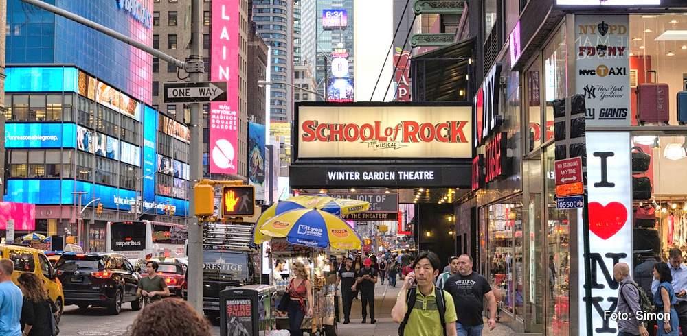 Auf dem Broadway in Manhattan, New York