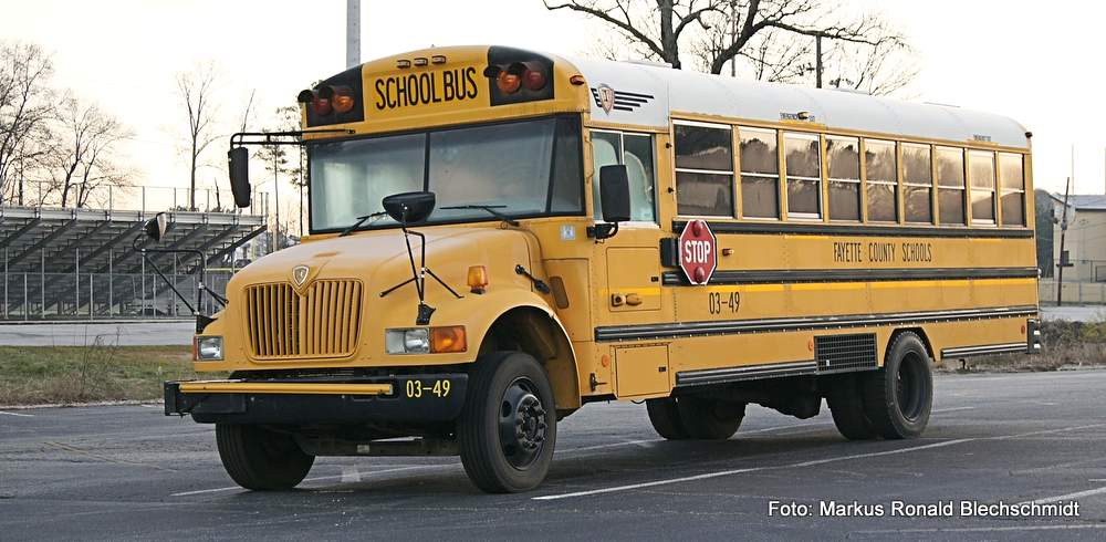 Schulbus im Fayette County