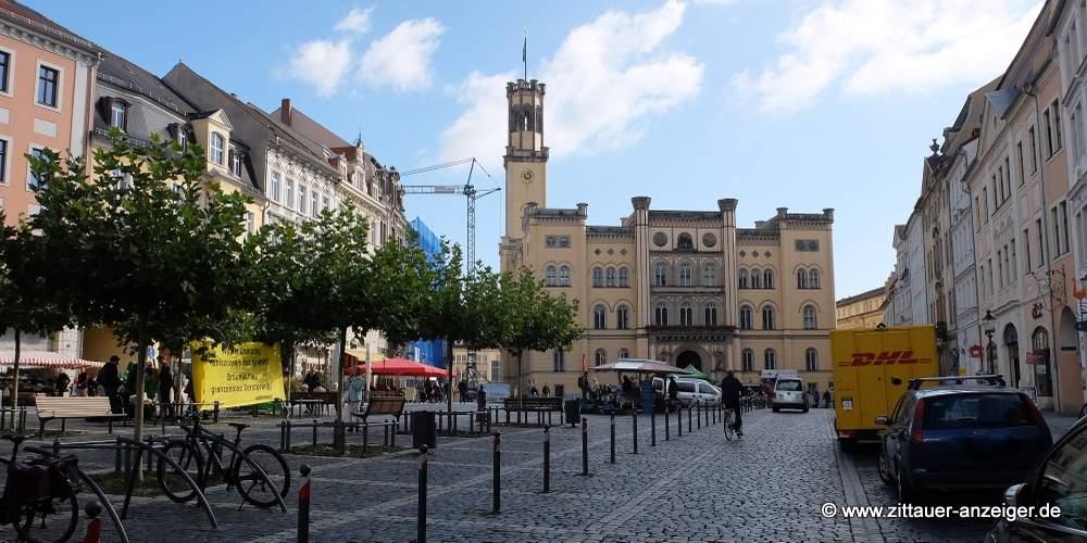Das ZDF-moma sendet vom Zittauer Markt