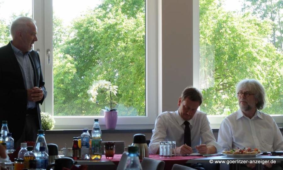 Von links: Andreas Breck, Michael Kretschmer, Thomas Beier
