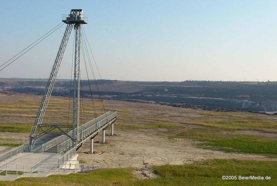 Im Jahr 2005 war der Großräschener See noch trocken, aber die IBA, die Internationale Bauausstellung, war mit ihrer Werkschau