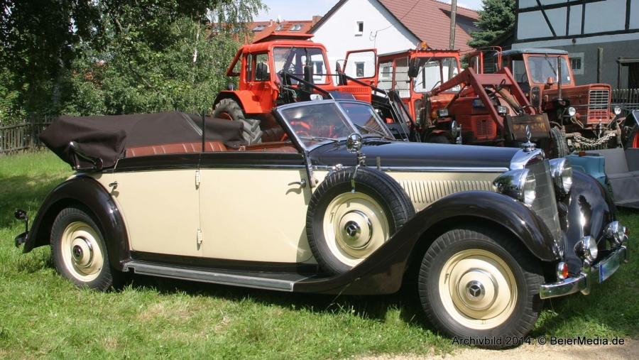 Eine Erinnerung an die Schau historischer Fahrzeuge im Dorfmuseum Markersdorf im Jahr 2014