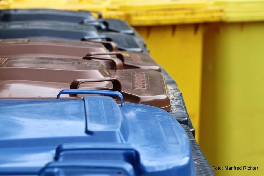 Die Landschaft der Abfall- und Wertstofftonnen wird bunter
