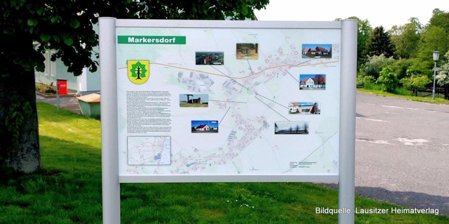 Die neue Übersichtstafel in Markersdorf