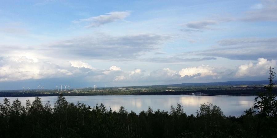 Blick vom Aussichtspukt auf der Neuberzdorfer Kippe