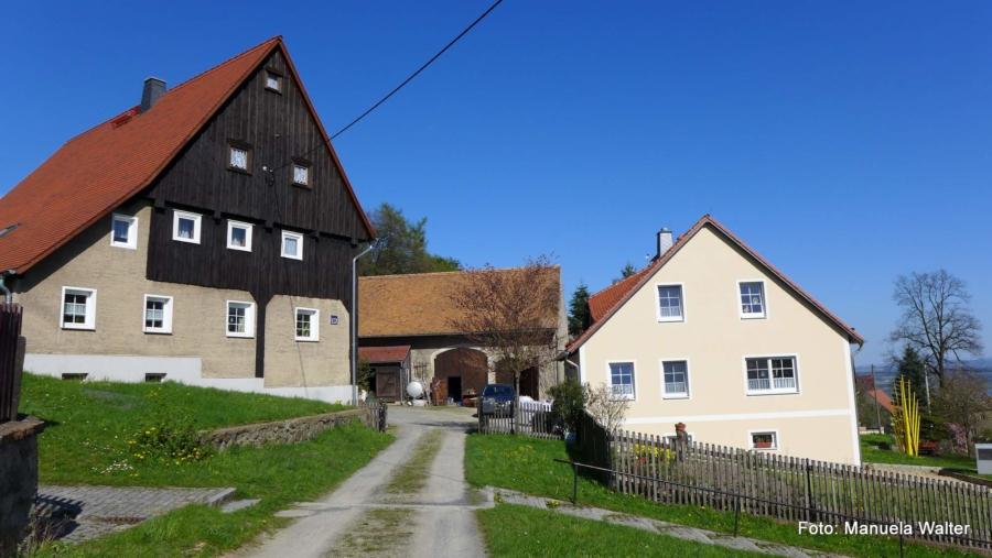 In Jauernick-Buschbach, höchstgelegene Ortschaft der Großgemeinde Markersdorf