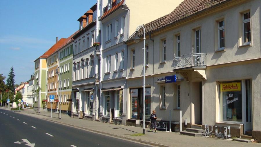 Straßenszene in Niesky