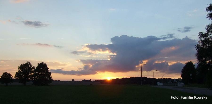 Sonnenuntergang am Viebig in Markersdorf
