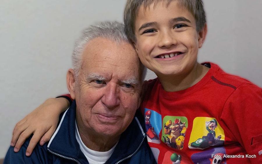 Großeltern, die ihre Enkel aufwachsen sehen, haben es gut