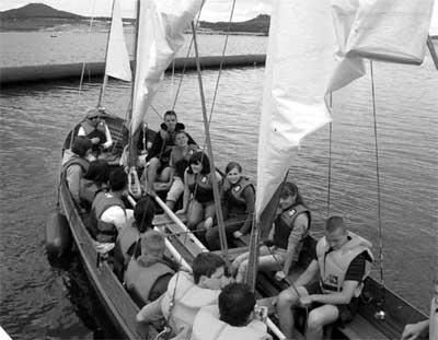 Während des Ferienlagers auf dem Berzdorfer See. Foto: Knack