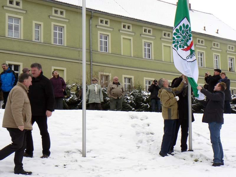 Die Erligheimer Fahne in Markersdorf im Januar 2011.