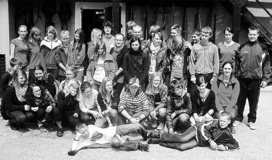 Teilnehmer des Kinderlagers im Dorfmuseum. Foto: Gemeindeverwaltung Markersdorf