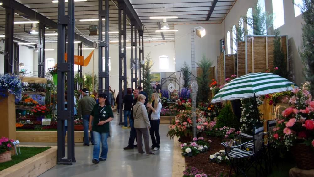 Die Blumenhalle ist im ehemaligen Zuckerlager eingerichtet worden.
