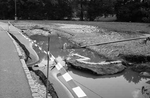 Die erst unlängst fertiggestellte Straße im Niederdorf.