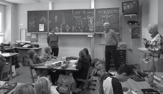 Die Kinder der Klasse 3a lernten viel über das Leben und die Kultur in Russland.
