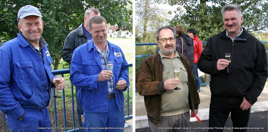 Auch Kollegen von der STL Bau aus Löbau waren gekommen.