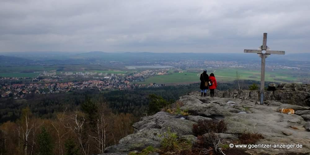 Blick vom Töpfer im Zittauer Gebirge