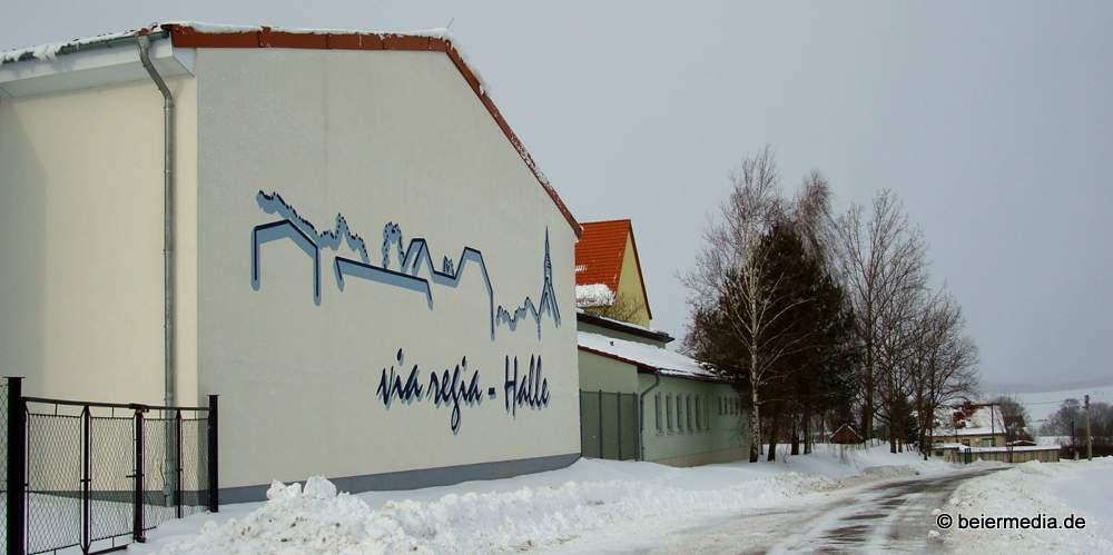 Im Alltag dient die via regia-Halle der Grundschule Markersdorf und Vereinen als Sporthalle