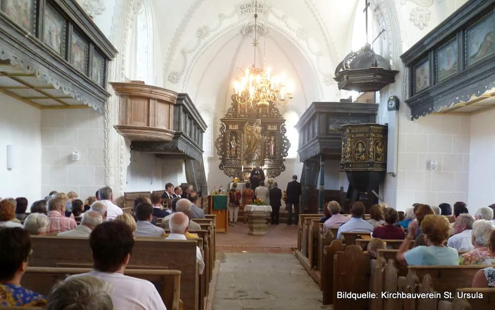 In der Bauernkirche St. Ursula in Friedersdorf an der Landeskrone