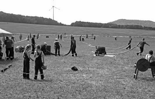 Beim Wettkampf in Deutsch-Paulsdorf